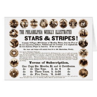 Periódico semanal de 1918 estrellas y de las rayas tarjetón