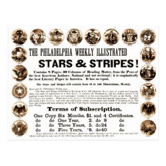 Periódico semanal de 1918 estrellas y de las rayas postal