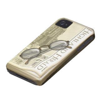 Periódico y gafas del vintage Case-Mate iPhone 4 carcasa