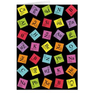 Periódicos elementales (oscuro) tarjeta de felicitación