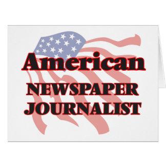 Periodista americano del periódico tarjeta de felicitación grande