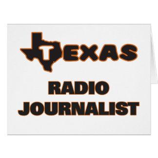 Periodista de radio de Tejas Tarjeta De Felicitación Grande