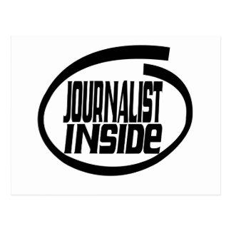 Periodista dentro postal