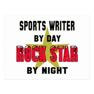 Periodista deportivo por el día rockstar por noche postal