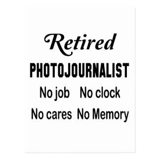 Periodista fotográfico jubilado ningún trabajo postal