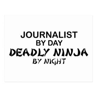 Periodista Ninja mortal por noche Tarjeta Postal