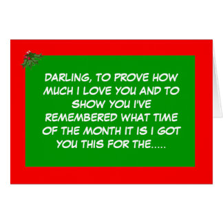Período festivo divertido tarjeta de felicitación