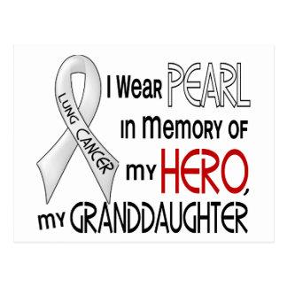 Perla en memoria de mi cáncer de pulmón de la niet tarjeta postal
