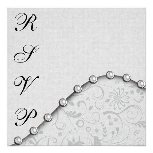 Perla RSVP del boda Invitaciones Personalizada