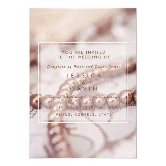 Perlas de la invitación del boda