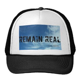 Permanece el sombrero real del fondo del cielo gorra