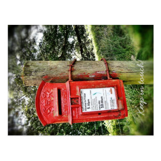 ¡Permanezca en contacto! Postal