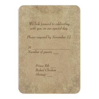 permiso de matrimonio RSVP del vintage Invitación 8,9 X 12,7 Cm