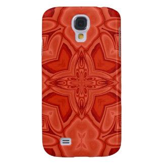 Pern de madera abstracto rojo samsung galaxy s4 cover
