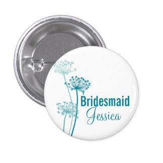 Perno/botón modernos del boda de la flor del chapa redonda de 2,5 cm
