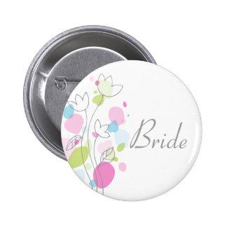 Perno/botón modernos del boda de la novia del chapa redonda de 5 cm