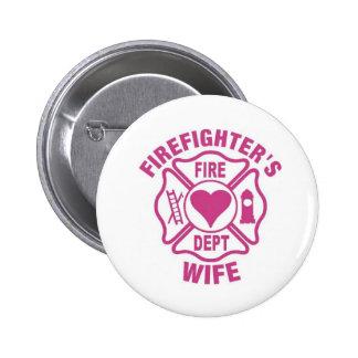 Perno del botón de la esposa del bombero rosado