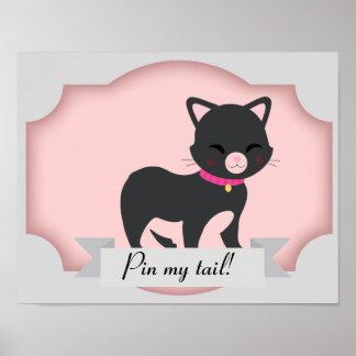 perno del gato el poster de la cola póster
