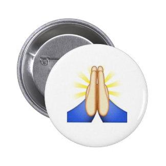 Perno doblado del emoji de las manos chapa redonda 5 cm