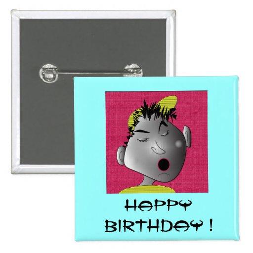 """perno """"feliz cumpleaños """" pins"""