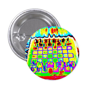 perno psicodélico del tablero de ajedrez del color chapa redonda de 2,5 cm