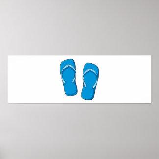 Pernos azules de encargo de las tarjetas de posters