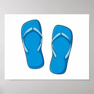 Pernos azules de encargo de las tarjetas de póster