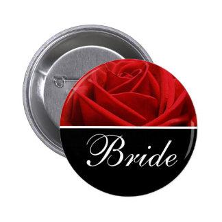 Pernos de la designación del boda de la novia chapa redonda de 5 cm
