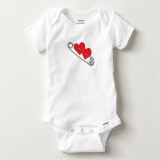 Pernos de los corazones body para bebé