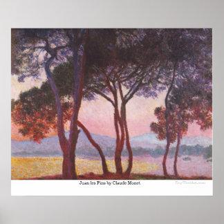 Pernos de los les de Juan de Claude Monet Póster