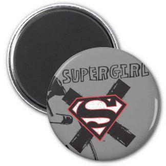 Pernos de seguridad negros de Supergirl Imán Redondo 5 Cm