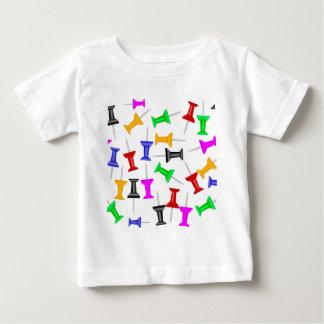 Pernos del botón del mapa camiseta de bebé