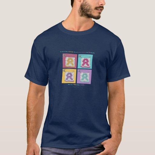 Pernos del estilo del SIDA de la CARA Camiseta
