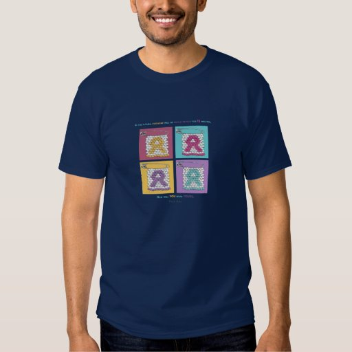 Pernos del estilo del SIDA de la CARA Camisetas