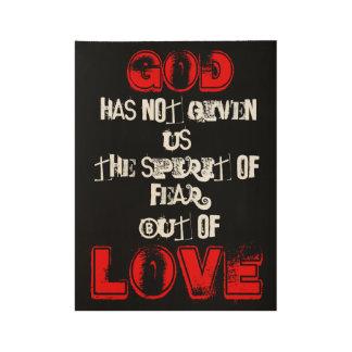 Pero del amor póster de madera