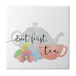 Pero primero, té azulejo de cerámica