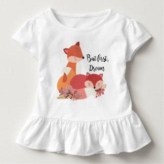 Pero primero, zorros ideales camiseta de bebé
