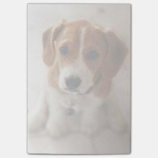 Perrito 2 del beagle notas post-it®