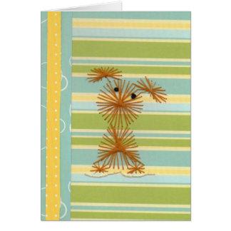 Perrito bordado caprichoso tarjeta de felicitación