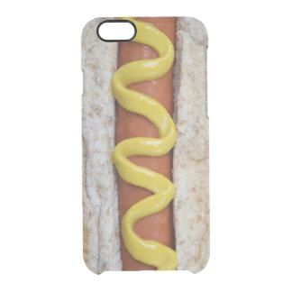 perrito caliente delicioso con la fotografía de la funda transparente para iPhone 6/6s