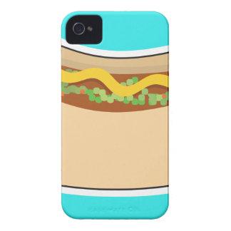 Perrito caliente y condimento carcasa para iPhone 4