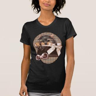 Perrito de Houndstooth Yorkie Camisetas