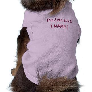 Perrito de la princesa camiseta sin mangas para perro