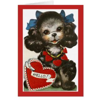 Perrito de la tarjeta del día de San Valentín del