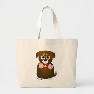 Perrito de petición lindo bolsas de mano