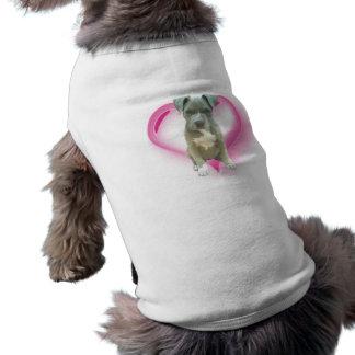 Perrito de Pitbull de las tarjetas del día de San  Camiseta Sin Mangas Para Perro