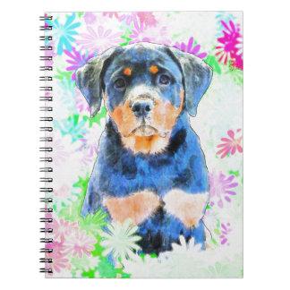 Perrito de Rottweiler Cuaderno