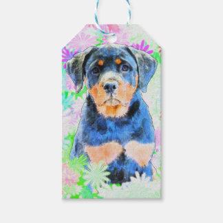 Perrito de Rottweiler Etiquetas Para Regalos