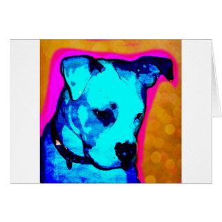 Perrito de Srta. Artemis The american Bulldog de L Tarjeta De Felicitación