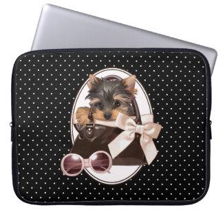 Perrito de Yorkshire Terrier Funda Para Portátil